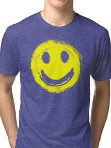 grunge smiley face Tri-blend T-Shirt