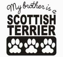 My Brother Is A Scottish Terrier One Piece - Short Sleeve