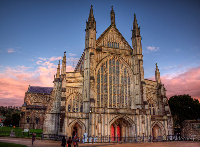 Winchester Cathedral  in the Sunset light by NeilAlderney