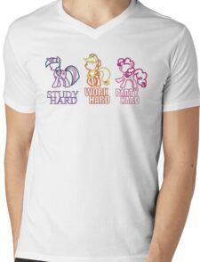 Twilight Sparkle Pinkie Pie Applejack Mens V-Neck T-Shirt