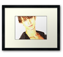 David - Lights Framed Print