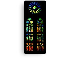 Stained Glass Windows - Sagrada Familia, Barcelona, Spain Canvas Print