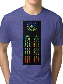 Stained Glass Windows - Sagrada Familia, Barcelona, Spain Tri-blend T-Shirt