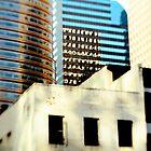 blue tower black windows by stefanie le pape