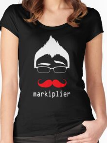 MARKIPLIER FACE Women's Fitted Scoop T-Shirt