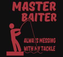 MASTER BAITER FUNNY RUDE TUMBLR FISHING by arrazak
