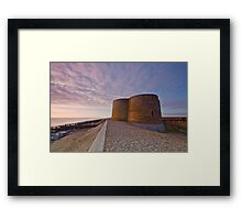 Slaughden Martello tower, Suffolk Framed Print