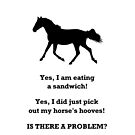 Horse People Humor iPhone & iPod Cases by Patricia Barmatz