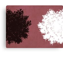Queen Anne's Lace in Pink & Gray Canvas Print