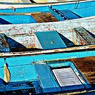 Blue Boats by clare scott