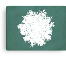Queen Anne's Lace in Blue & White Canvas Print