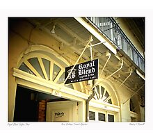 French Quarter Coffee Shop Photographic Print
