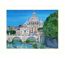The view of the Vatican city Art Print