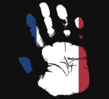 Flag Handprint - France by SkinnyJoe