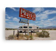Desserted desert motel Canvas Print