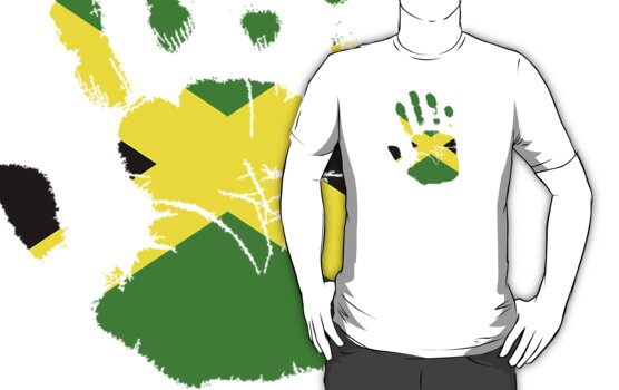 Flag Handprint - Jamaica by SkinnyJoe