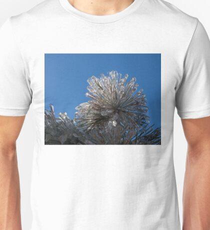 Spectacular Ice Storm - Pine Needle Flower Unisex T-Shirt