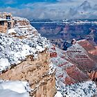 Snowfall View of The Grand Canyon by Sue Knowles