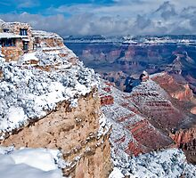 Snowfall View of The Grand Canyon National Park (Arizona, USA) by Sue Knowles