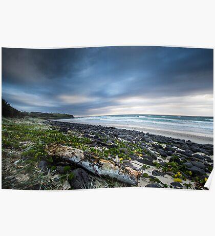 Sunrise over Sharpes Beach v.2 Poster