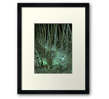 Undergrowth in Green Framed Print