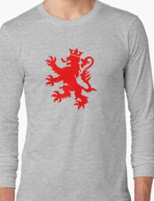 lion luxembourg crown  Long Sleeve T-Shirt