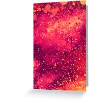 Abstract Pink Lemonade Paint Splatter Art Greeting Card