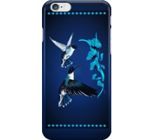 Two Blue Hummingbirds iPhone Case/Skin