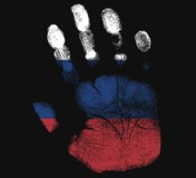 Flag Handprint - Russia (Faded) by SkinnyJoe