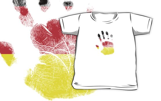 Flag Handprint - Germany (Faded) by SkinnyJoe