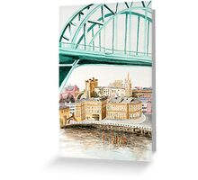 Tyne Bridge and Quayside Greeting Card