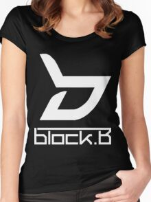 block. B Women's Fitted Scoop T-Shirt