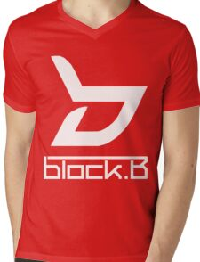 block. B Mens V-Neck T-Shirt