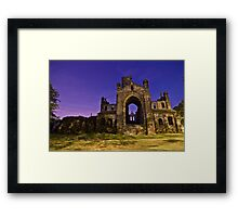 Kirkstall Abbey Cistercian monastery Leeds West Yorkshire Night Framed Print