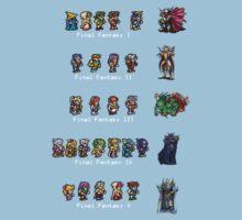 Final Fantasy I to V by sephcornel