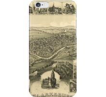 Panoramic Maps Clarksburg West Virginia 1898 iPhone Case/Skin