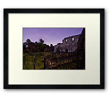 Kirkstall Abbey 4255-B Cistercian monastery Leeds West Yorkshire Night After Dark Photography Framed Print