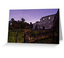 Kirkstall Abbey 4255-B Cistercian monastery Leeds West Yorkshire Night After Dark Photography Greeting Card