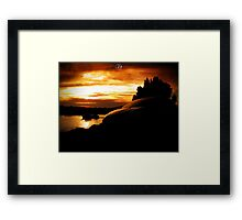 artistic sunset Framed Print