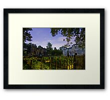 Kirkstall Abbey 4261-B Cistercian monastery Leeds West Yorkshire Night After Dark Photography Framed Print