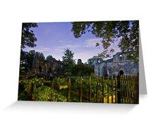 Kirkstall Abbey 4261-B Cistercian monastery Leeds West Yorkshire Night After Dark Photography Greeting Card