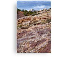 Sandstone Patterns at Split Mountain 2 Canvas Print