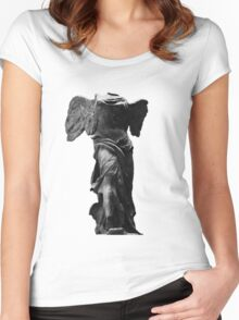 Nike the winged goddess of victory Women's Fitted Scoop T-Shirt