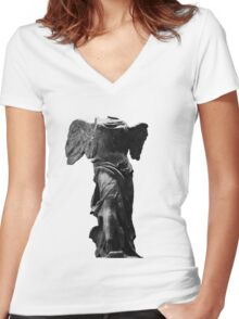Nike the winged goddess of victory Women's Fitted V-Neck T-Shirt