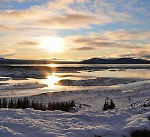 Þingvallavatn Panorama - Blue Lake, Thingvellir National Park, Iceland by Chris Jones