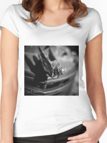 Cadillac Hood Ornament Women's Fitted Scoop T-Shirt