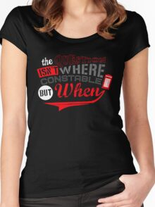 The question isn't where, but when ! Women's Fitted Scoop T-Shirt
