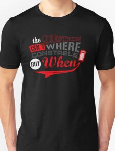 The question isn't where, but when ! Unisex T-Shirt