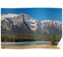 Mount Kirkeslin and the Athabasca River Poster