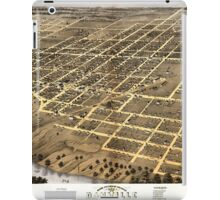 Panoramic Maps Bird's eye view of the city of Danville Vermillion County Illinois 1869 iPad Case/Skin